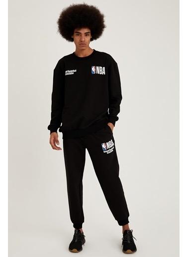 Defacto –Fit NBA Lisanslı Unisex Regular Fit Jogger Eşofman Altı Siyah